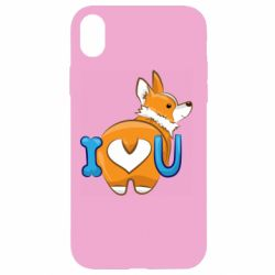 Чехол для iPhone XR I love you corgi