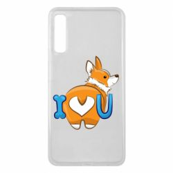 Чехол для Samsung A7 2018 I love you corgi