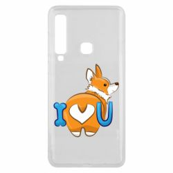 Чехол для Samsung A9 2018 I love you corgi