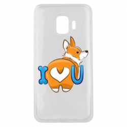 Чехол для Samsung J2 Core I love you corgi