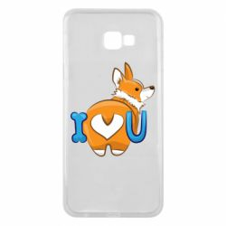 Чехол для Samsung J4 Plus 2018 I love you corgi