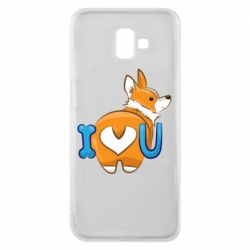 Чехол для Samsung J6 Plus 2018 I love you corgi