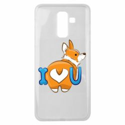 Чехол для Samsung J8 2018 I love you corgi