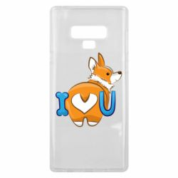 Чехол для Samsung Note 9 I love you corgi