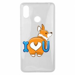 Чехол для Xiaomi Mi Max 3 I love you corgi