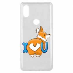 Чехол для Xiaomi Mi Mix 3 I love you corgi