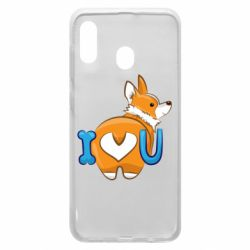 Чехол для Samsung A20 I love you corgi