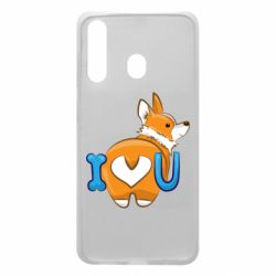 Чехол для Samsung A60 I love you corgi