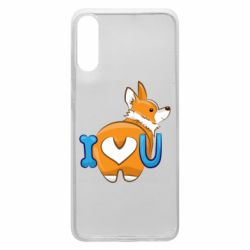 Чехол для Samsung A70 I love you corgi
