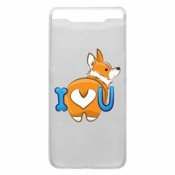 Чехол для Samsung A80 I love you corgi