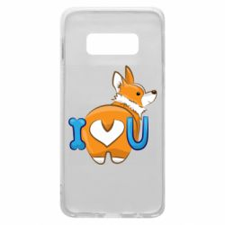 Чехол для Samsung S10e I love you corgi