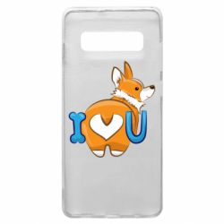 Чехол для Samsung S10+ I love you corgi