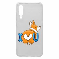 Чехол для Xiaomi Mi9 I love you corgi