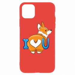 Чехол для iPhone 11 I love you corgi