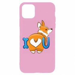 Чехол для iPhone 11 Pro I love you corgi