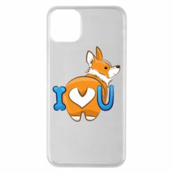 Чехол для iPhone 11 Pro Max I love you corgi