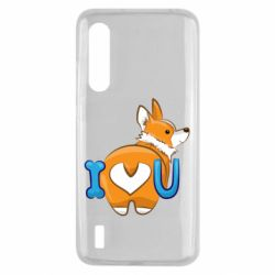Чехол для Xiaomi Mi9 Lite I love you corgi