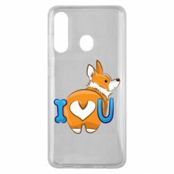 Чехол для Samsung M40 I love you corgi