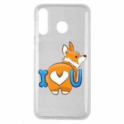 Чехол для Samsung M30 I love you corgi