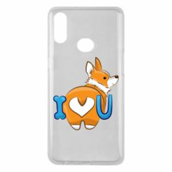 Чехол для Samsung A10s I love you corgi