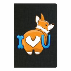 Блокнот А5 I love you corgi