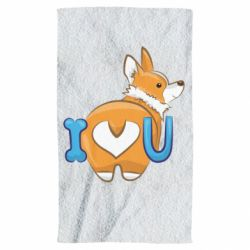 Полотенце I love you corgi