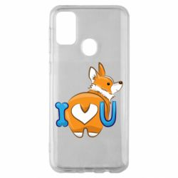 Чехол для Samsung M30s I love you corgi