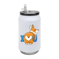 Термобанка 350ml I love you corgi