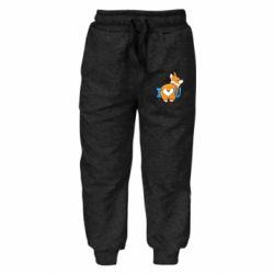 Детские штаны I love you corgi