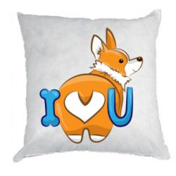 Подушка I love you corgi