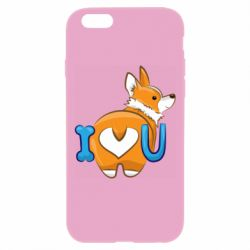 Чехол для iPhone 6 Plus/6S Plus I love you corgi