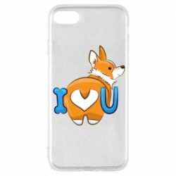 Чехол для iPhone 7 I love you corgi