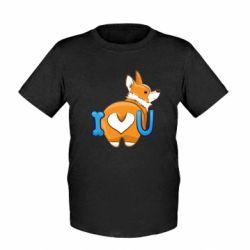 Детская футболка I love you corgi