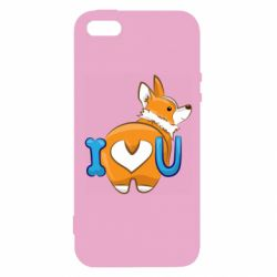 Чехол для iPhone5/5S/SE I love you corgi