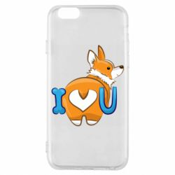 Чехол для iPhone 6/6S I love you corgi