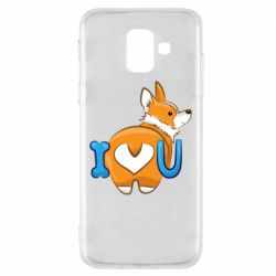 Чехол для Samsung A6 2018 I love you corgi