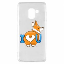 Чехол для Samsung A8 2018 I love you corgi