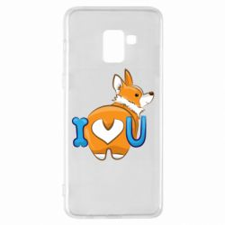 Чехол для Samsung A8+ 2018 I love you corgi