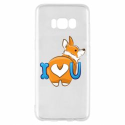 Чехол для Samsung S8 I love you corgi