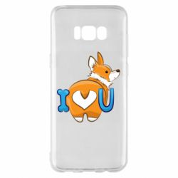Чехол для Samsung S8+ I love you corgi