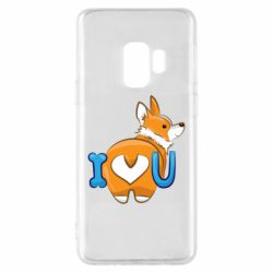 Чехол для Samsung S9 I love you corgi