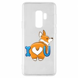 Чехол для Samsung S9+ I love you corgi