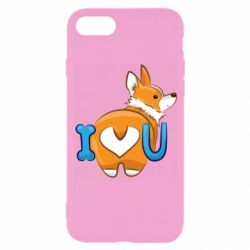Чехол для iPhone 8 I love you corgi