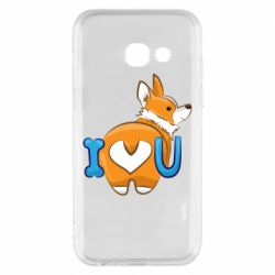 Чехол для Samsung A3 2017 I love you corgi