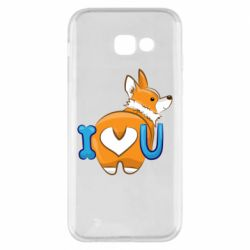 Чехол для Samsung A5 2017 I love you corgi