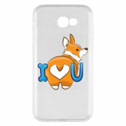 Чехол для Samsung A7 2017 I love you corgi