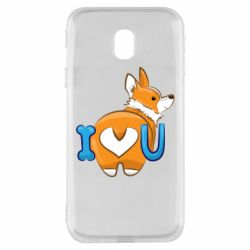 Чехол для Samsung J3 2017 I love you corgi