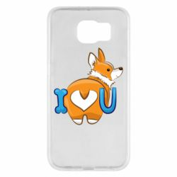 Чехол для Samsung S6 I love you corgi