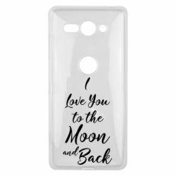 Купить Чехол для Sony Xperia XZ2 Compact I love you to the moon and back, FatLine