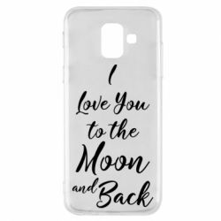 Купить 14 Февраля, Чехол для Samsung A6 2018 I love you to the moon and back, FatLine